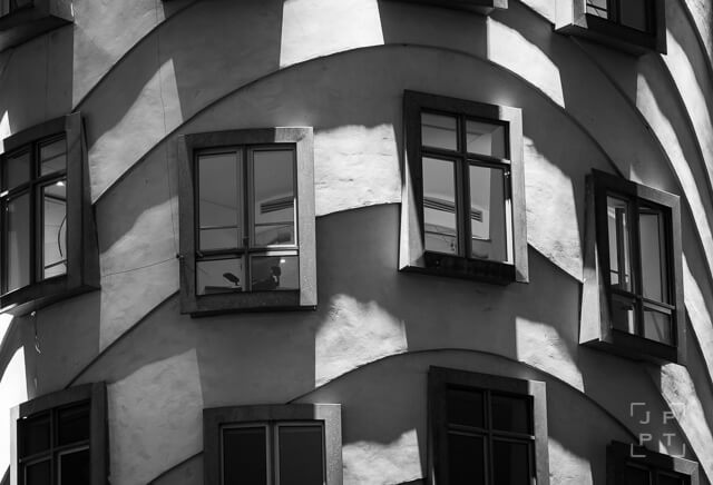 Detail of windows of Dancing house