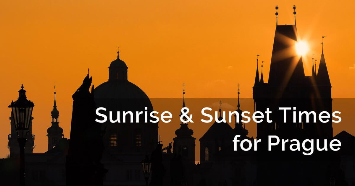 Sunrise and sunset Prague