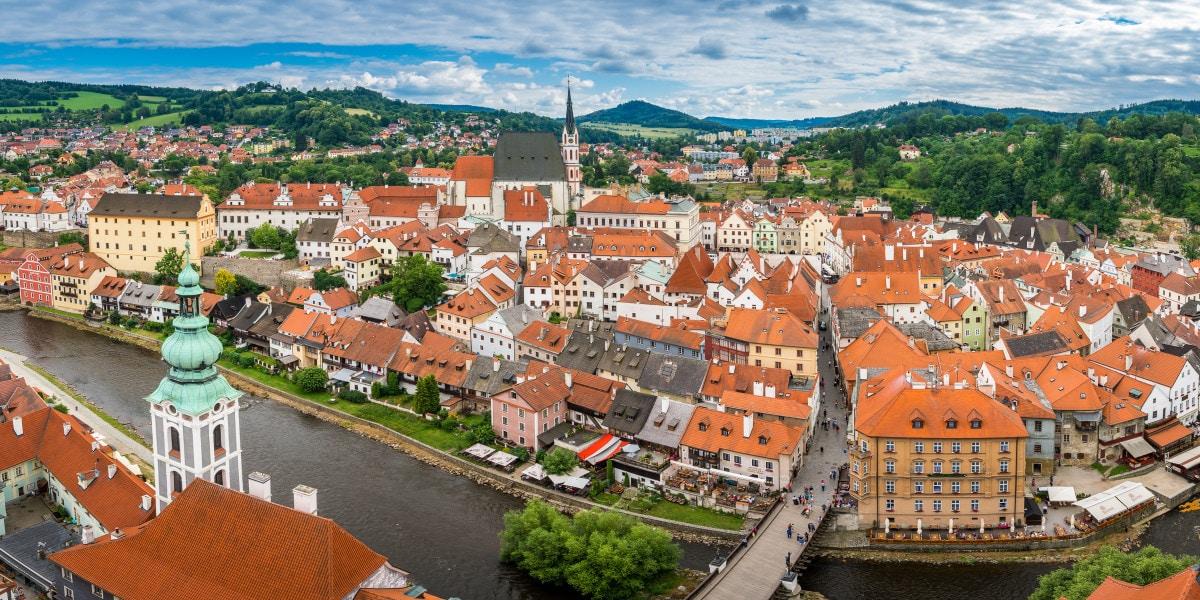 Panoramic view of Český Krumlov